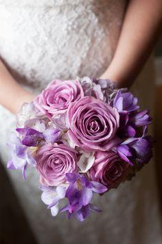 purple wedding bouquet, Paxton, Illinois