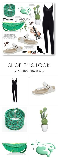 """""""All-in-One: Sleeveless Jumpsuits"""" by angelstar92 ❤ liked on Polyvore featuring Kate Spade, RGB, ASOS, jcp, fab, BangGood and sleevelessjumpsuits"""