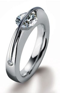 Floating Diamond Ring by Gebruder Schaffrath