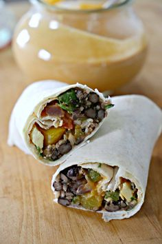 Chipotle and Lime Forever Burritos with Smoky Tangy Cream #vdbburgersandburritoscookbook #Vegan #Vegetarian #burrito