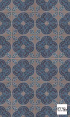 David & Goliath Cement tile Ulysses Bleu 15x15cm