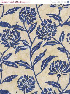 On Sale  ENGLISH ROSE in Pearl  Tonga Calypso Blue by MoonaFabrics