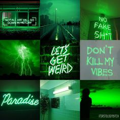 • Green Neon Glow Aesthetic - Sagittarius •Sagittarius: I know for a fact that not all art will go down in history, but I can't help but feel like I'm alone walking this empty road, gated in from...