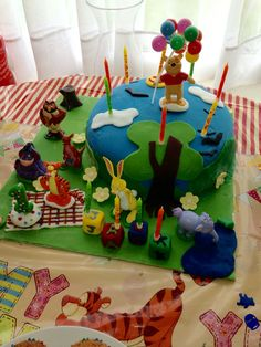 My Favourite of All!! Winnie the Pooh Picnic Scene for My Sons 1st Birthday....where this whole journey began!