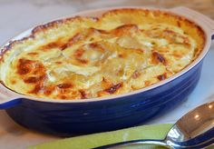 Potatoes Au Gratin is ultimate French comfort food. It involves layering thinly sliced potatoes with heavy cream (a lot of it!) and grated cheese in a gratin dish.