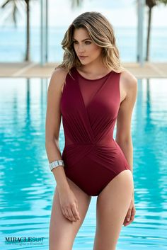 1d75349c9ec03 Miraclesuit Illusionists Palma Soft Cup One Piece Swimsuit One Piece  Swimsuit Slimming, Bikini Village,