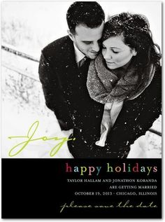Signature White Photo Save the Date Cards Modern Moments - Front : Black