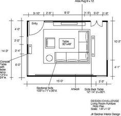 Jill Seidner Interior Design: WINNER! Design Challenge: Space Plan For Your Living  Room