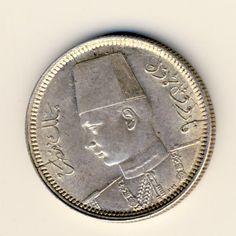 Egypt 1937 silver 2 piastres UNC