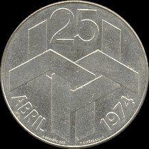 250 Escudos, prata 1976