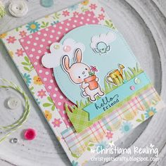 brand-new company called Hello Bluebird! Diy Easter Cards, Easter Crafts, Scrapbook Cards, Scrapbooking, Interactive Cards, Beautiful Handmade Cards, Bird Cards, Get Well Cards, Card Sketches