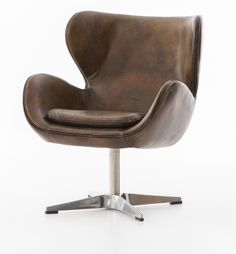 Regent Espresso Leather Swivel Swan Chair (https://www.zinhome.com/regent-espresso-leather-swivel-swan-chair/)
