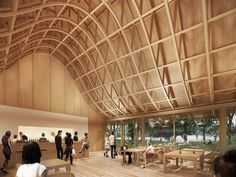 GHA Project | Virginia Water Architectural Design Studio, Architecture Design, Virginia, Landscape, Building, Water, Projects, Shells, Wood Ceilings