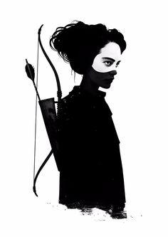 Graceful Women In Dark Illustrations By Ruben Ireland