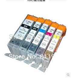 5pcs PGI 450 CLI 451 BK C M Y compatible ink cartridge For canon PIXMA  MG5440 MG5540 MG6440 Ip7240 MX924 IX6540 IX6840 printer #Affiliate