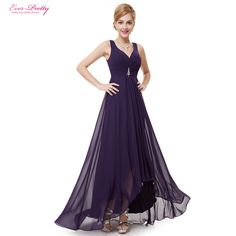 cool Formal Evening Dresses EP09983 Ever Pretty 2016 New Arrival Real Photo Plus Size Double V Neck Rhinestones Long Evening Dress