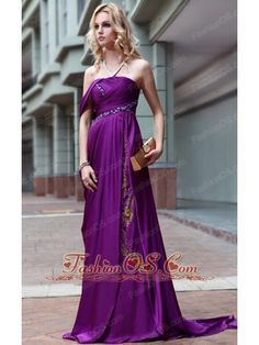 Purple Empire Strapless Floor-length Beading Prom / Party Dress- $166.69  http://www.fashionos.com  http://www.facebook.com/quinceaneradress.fashionos.us  christmas prom dress on sale | new year prom dress discount | summer prom dress for wholesale | affordable prom dress for 2013 | sleeveless prom dress for celebrity | empire prom dress for formal evening | strapless prom dress for graduation | prom dress with elastic woven satin fabric | prom dress in purple color |