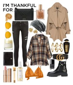 """Fall's climax"" by whispers-of-the-wind on Polyvore featuring Versace, Chanel, Linda Farrow, Burberry, RtA, Bobeau, The Merchant Of Venice, Chloé, Madewell and Ouai"