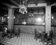 pictures of early 1900's hotel bars | Early 1900s Detroit Bartender Griswold Bar Interior Photo ...