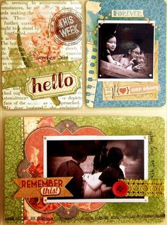"""""""Love This"""" Misc Me Pages (3) by Irene Tan using BoBunny Garden Journal Collection ~ Scrapbook Pages 3"""