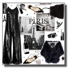 """From Paris with love"" by j477 ❤ liked on Polyvore featuring Paul Andrew, Unreal Fur, Oliver Gal Artist Co., G.V.G.V., Sisley, Perrin, Yves Saint Laurent and Christian Dior"