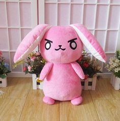 Overwatch OW DVA D.VA Rabbit Plush Doll Toy Stuffed Cute Cosplay Prop Big Soft