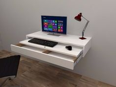 Floating desk with drawer and tray - super . in Argentinien 【ANUN … Floating desk with drawer and tray – great offer ! Floating Desk With Drawers, Floating Wall Desk, Space Saving Furniture, Home Decor Furniture, Furniture Design, Home Office Design, Home Office Decor, Diy Home Decor, Study Table Designs