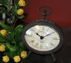 Oval Metal Table Top Clock. Perfect little gift!