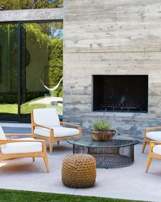 Outdoor fireplace | for the future | Pinterest
