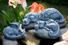 Dragon Garden Statue  BIG Sleeping Daphne Is So by PhenomeGNOME, $1089.99