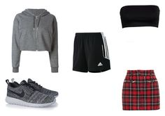 """""""mini middle school"""" by mayal-2 ❤ liked on Polyvore featuring Golden Goose, Filles à papa, NIKE and adidas"""