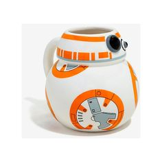 Star Wars BB-8 Figural Mug (180 SEK) ❤ liked on Polyvore featuring home, kitchen & dining, drinkware, star wars mug, star wars ceramic mug, ceramic mugs and dishwasher safe mugs