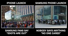 iPhone vs samsung launch
