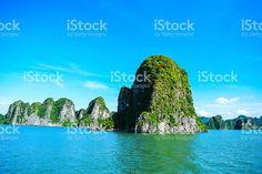 Limestone rocks in Halong Bay, Vietnam royalty-free stock photo