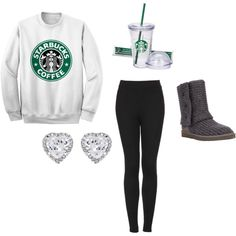 """Basic White Girl"" by kyliedelgado on Polyvore"