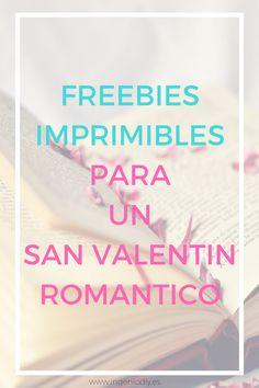 Freebies imprimibles para San Valentin que enamoraran a tu pareja.