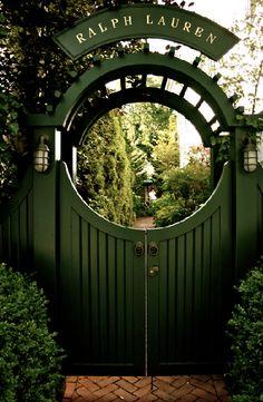 Dark green gate