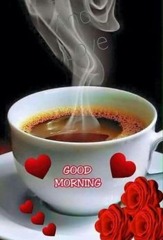 a beautiful Good Morning images - New Ideas Good Morning Coffee Gif, Good Morning Roses, Good Morning Cards, Latest Good Morning, Good Morning My Friend, Morning Morning, Good Morning Picture, Good Morning Greetings, Morning Pictures