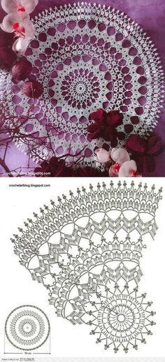 30 ideas crochet lace chart doily patterns for 2019 Free Crochet Doily Patterns, Crochet Doily Diagram, Crochet Mandala, Filet Crochet, Crochet Motif, Crochet Lace, Free Pattern, Mandala Rug, Crochet Dreamcatcher Pattern
