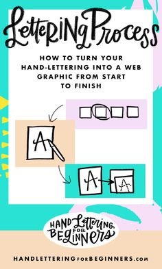 How To Turn Your Hand-Lettering Into a Web Graphic From Start To Finish — Hand-Lettering For Beginners