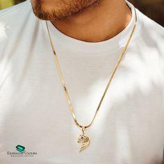 14k Gold Necklace, Men Necklace, Pendant Necklace, Chocker, Meraki, Animal Jewelry, Jewelery, Silver, Random