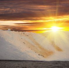 Antarctica - Sunset Great shot but I dont have much interest in going there.