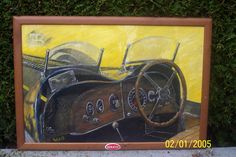 Bugatti ---    koning Leopold III van Belgie, Scharnierend dashboard omdat hij veelal alleen reed.