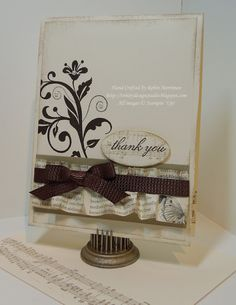 Stampin' Card   by Robin Merriman at Trinity Designs