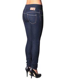 Look what I found on #zulily! Dark Blue Anna Pull-On Skinny Jeans - Women #zulilyfinds