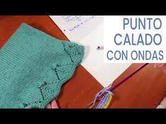 Punto calado con ondas para tejer al inicio prenda ⏩ Videos de Lucila - YouTube Knitting Stitches, Crochet Bikini, Projects To Try, Cross Stitch, It Cast, Lace, Design, Youtube, Gifs
