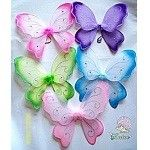 These sweet pretty pretty butterfly fairy wings are available in dark pink, light pink, purple, blue and green.  They are perfect to give as party favors and liven up any fairy birthday party!