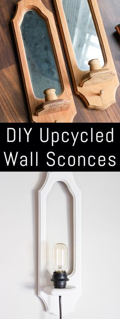 DIY Upcycled Wall Sconces: Created as part of the #SwapItLikeItsHot series!