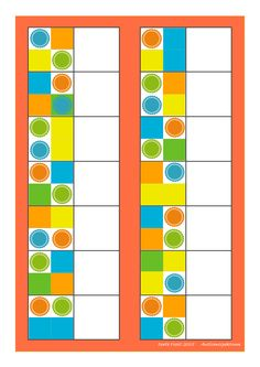 Board for the colorblock matching game. Cut and paste the tiles. By Autismespektrum
