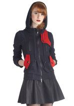 Leipzig Hoodie in Navy and Red | Mod Retro Vintage Jackets | ModCloth.com